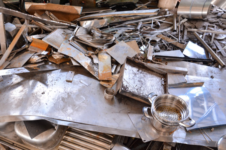 metal recycling: Photo Picture Heap of Scrap Metal Ready for Recycling Stock Photo