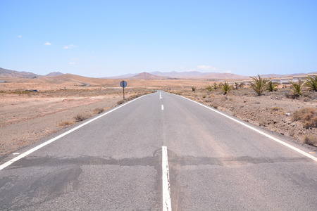 on the lonely road: Photo Picture of a Beautiful Asphalt Lonely Road Stock Photo