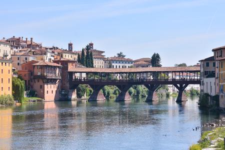 Photo Picture of the Medieval City Bassano del Grappa Stock Photo