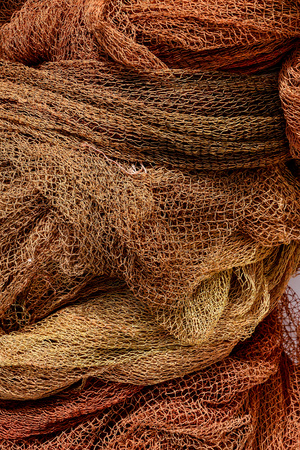Photo Picture Close up view of colored fishing net Stock Photo