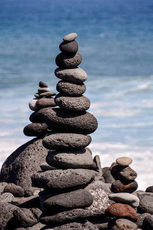 stack stones: Photo Picture Stack of stones on the sea beach