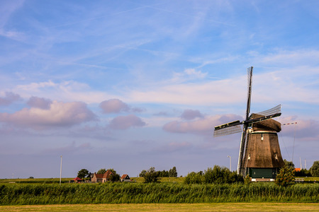 volendam: Photograph of a Classic Vintage Windmill in Holland