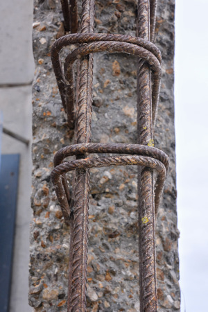 reinforcing: Photo Picture Architecture of concrete reinforcing mesh structure
