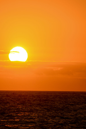Photo Picture of The  Sun Setting in the Sea