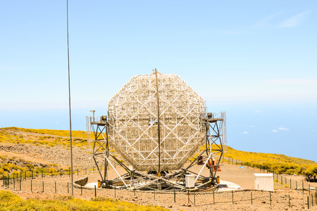 palma: Photo Picture of a Modern Scientific Astronomical Observatory Telescope Stock Photo