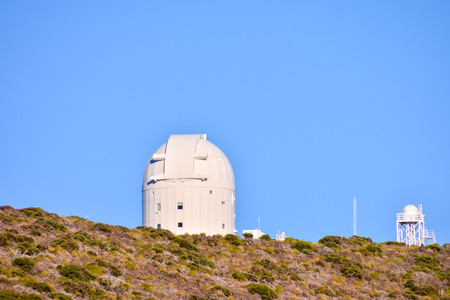 telescopes: Telescopes of the Teide Astronomical Observatory in Tenerife, Spain.