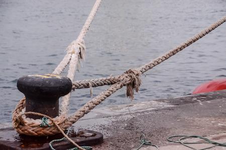 Old Vintage Naval Rope Stock Photo