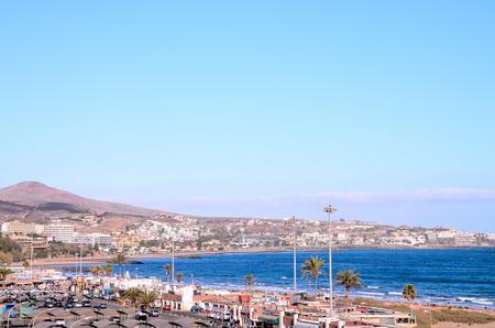 gran canaria: Playa del Ingles Tropical Beach in South of Gran Canaria Canary Islands