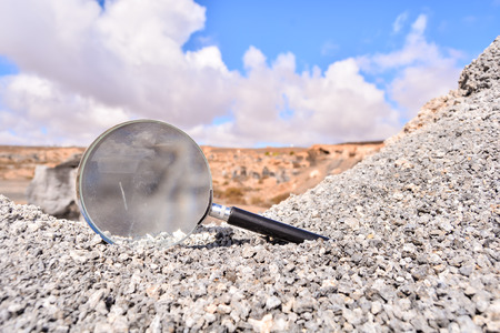 moab: Conceptual Photo Picture of a Loupe Object in the Dry Desert