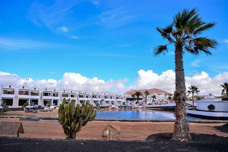 Español Ver el paisaje volcánico de Lanzarote Tropical Islas Canarias España Foto de archivo - 66561000