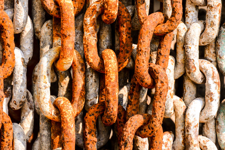 rusty chain: Photo picture background texture of a naval old rusty chain link