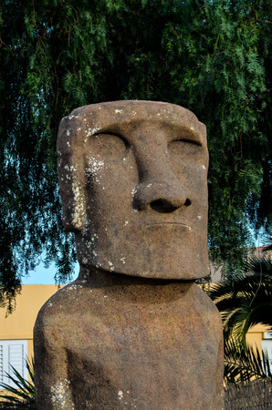moai: Moai standing from Easter Island , Chile South America