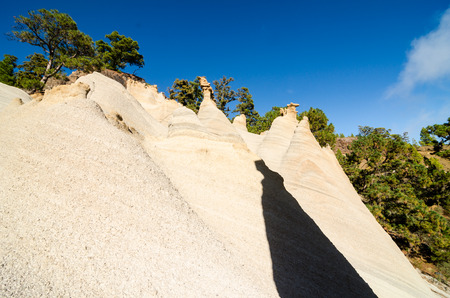 Rock Formations Paisaje Lunar on Canary Island Tenerife, Spain
