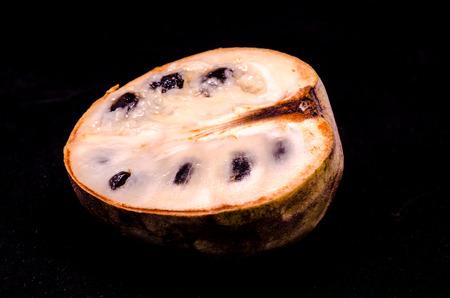 chirimoya: Fresh Green and Brown Ripe Cherimoya Trcal Fruit Stock Photo