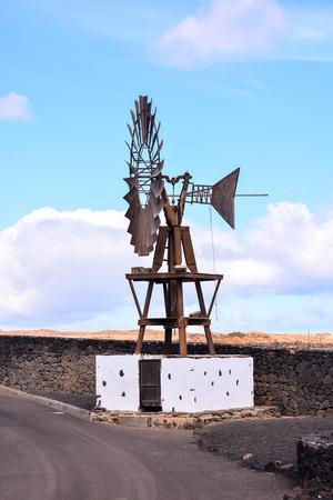 Español Ver el paisaje volcánico de Lanzarote Tropical Islas Canarias España Foto de archivo - 67347080