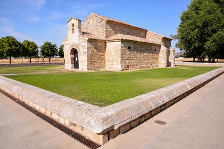 palencia province: Church of San Juan Bautista Banos de Cerrato Palencia Spain Seventh century declared National Monument Stock Photo