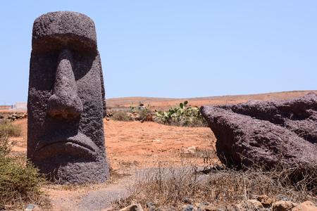 moai: Photo Picture of a Classic Style Moai Mask