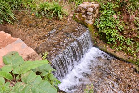 palma: Photo Picture of a Beautiful Water Splash Waterfall Stock Photo