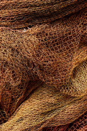 commercial fishing net: Photo Picture Close up view of colored fishing net Stock Photo