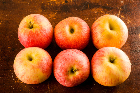 background with fresh red apples