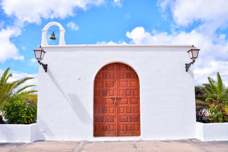 Photo Picture of a Small Church in Spain Stock Photo