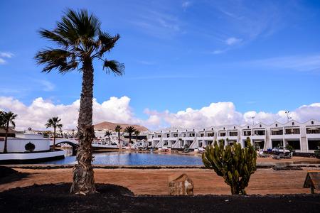 Español Ver el paisaje volcánico de Lanzarote Tropical Islas Canarias España Foto de archivo - 69081549