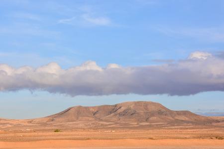 Spanish View Landscape in El Cotillo Fuerteventura Tropical Volcanic Canary Islands Spain