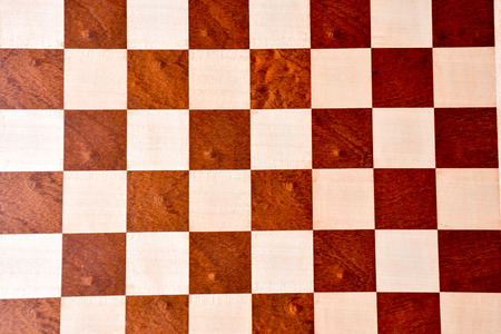 Photo Picture of the Classic Wooden Chess Board