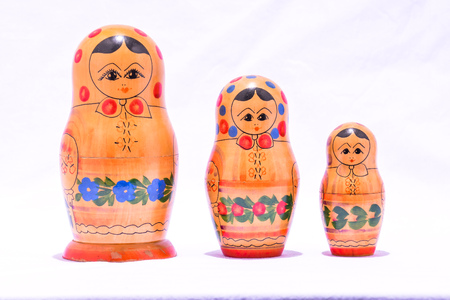 matrioska: Photo Picture of the Classic Russian Matrioska Doll Stock Photo