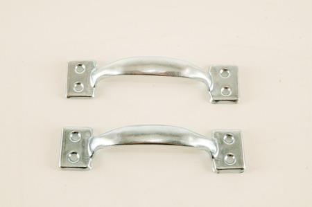 aluminium background: Photo picture of Metal case handle Aluminium background,