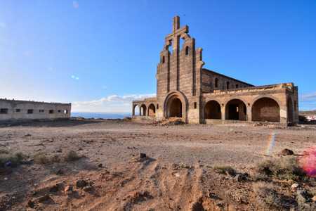 Abandoned Buildings of a Military Base in Tenerife Canary Islands Spain