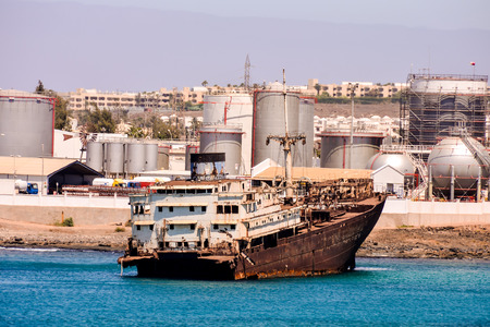 Photo picture of a Ship wreck in the Lanzarote Island spain, Stock Photo