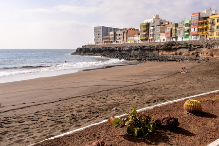 Spanish View Landscape in La Garrita Gran Canaria Tropical Volcanic Canary Islands Spain