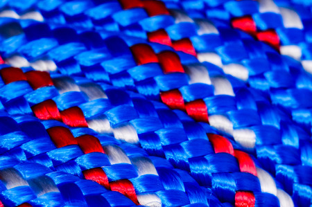 cordage: Background Texture Of The Blue Braided Rope