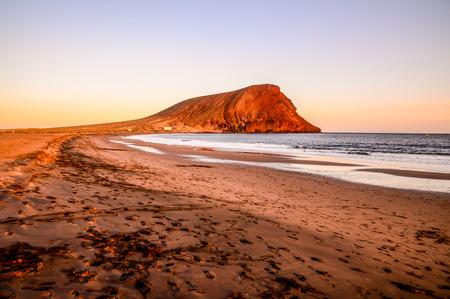 Sunset on the Atlantic Ocean El Medano Tenerife Canary Islands Spain