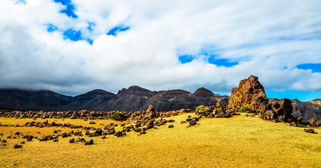 Cloudy Day in El Teide National Park Tenerife Canary Islands Spain