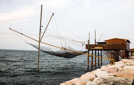 adriatico: Fishing net in north Italy on the adriatic sea