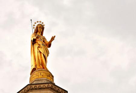 Photo Picture of a Classic Christian Statue in Avignon Stock Photo