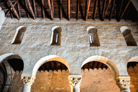 Church of San Juan Bautista Banos de Cerrato Palencia Spain Seventh century declared National Monument Stock Photo