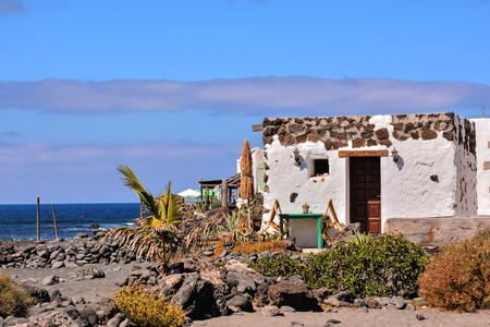 스페인어보기 풍경에서 Lanzarote 열대 화산 카나리아 제도 스페인 스톡 콘텐츠