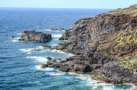 С высоты птичьего полета Эль Йерро Канарские острова Испания Фото со стока