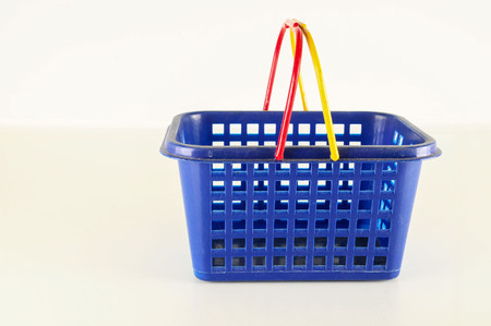 Close-up of plastic basket Object on a White Background