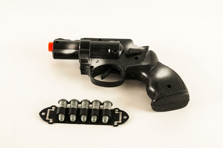 Photo picture of Police pistol gun equipment toy