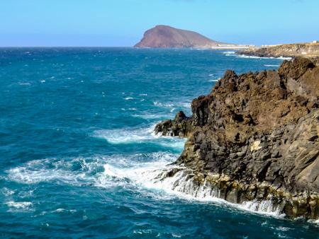 Espagnol Voir Landscape in Tropical Volcanic Îles Canaries Espagne Banque d'images