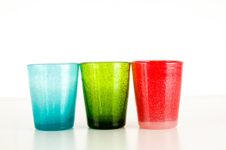 Photo Picture Of Modern Color Glass Vases Background Stock Photo