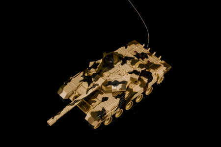 Scale model of a german tank from WWII Stock Photo