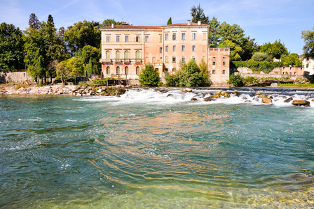 Photo Picture of the Medieval City Bassano del Grappa Stock Photo