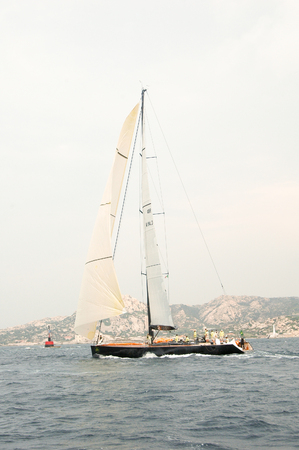 Editorial SARDINIA - SEPTEMBER 2005: Participants in the Maxi Yacht Rolex Cup boat race