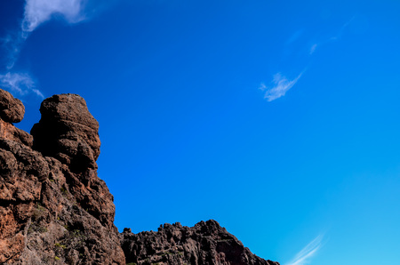 Volcanic Rock Basaltic Formation in Gran Canaria Canary Islands
