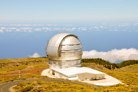 Photo Picture of a Modern Scientific Astronomical Observatory Telescope Stock Photo